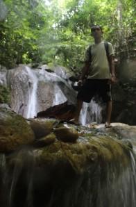 Sayed di Air Terjun Kuta Malaka