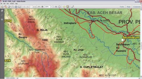 Peta Topografi Aceh Besar